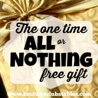 The one time all or nothing free gift: your life. In the hands of the Father, he is able to work immeasurably more than you ever thought possible.