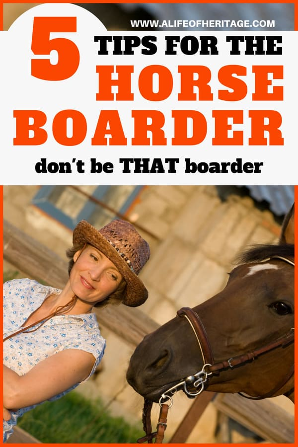 Horse care also involves being the best horse boarder you can be.