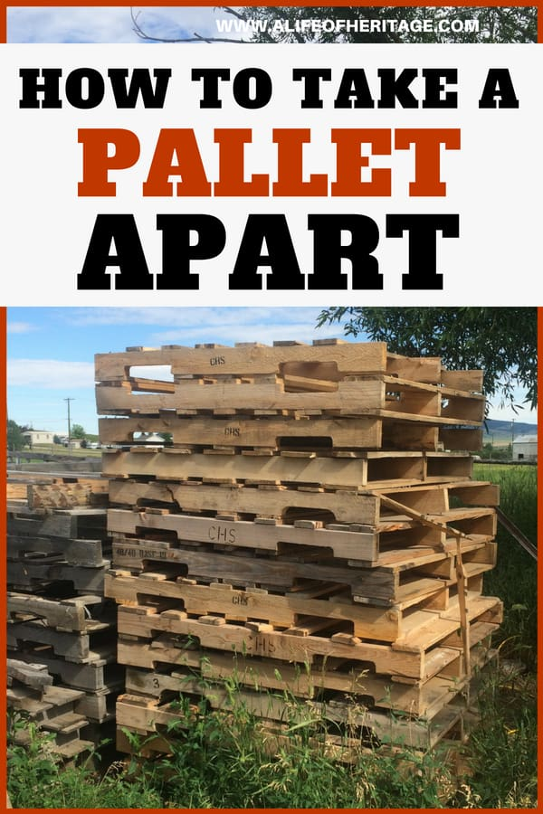 Pallet projects are fun but usually you will need to take them apart to work with them. Here's an easy way to take a pallet apart!