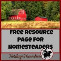 Homesteading | Homesteading help | Resources for Homesteaders | Free resource page for homesteaders..