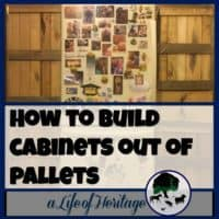 Pallets | Building with Pallets | Cabinet Built with Pallets | Planned out just for your home, pallet cabinets can be the perfect addition to your home and give you much more needed storage space!