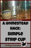 Strip Cup | Milking Goats | How to Milk Goats | Homesteading | Would you love to have a simple, FREE alternative to a strip cup? We've got the solution! (Plus a video)