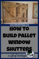 Pallets | Building with Pallets | Pallet Window Shutters | Pallet window shutters are a great addition to any room where you desire to block out light and have a rustic cowboy look.