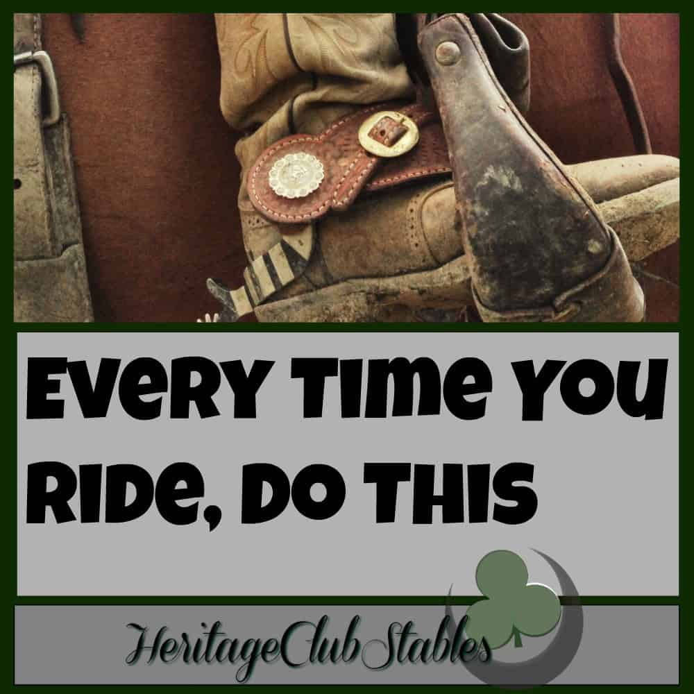 Every Time You Ride, Do This