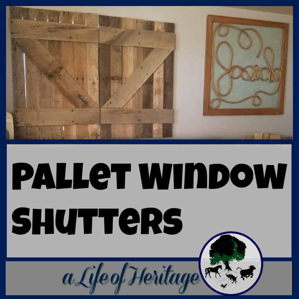 Pallet Window Shutters