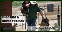 "Horse Training | Horse Trainer | How to choose a horse trainer | FREE printable ""Horse Trainer Questionnaire"". With a little bit of thought you can make choosing a horse trainer a little bit easier."