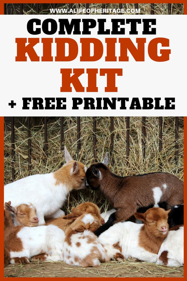 Kidding kit list to prepare you completely for when kidding goats begins! Be prepared so you can prevent problems and keep your goats healthy from the very beginning.