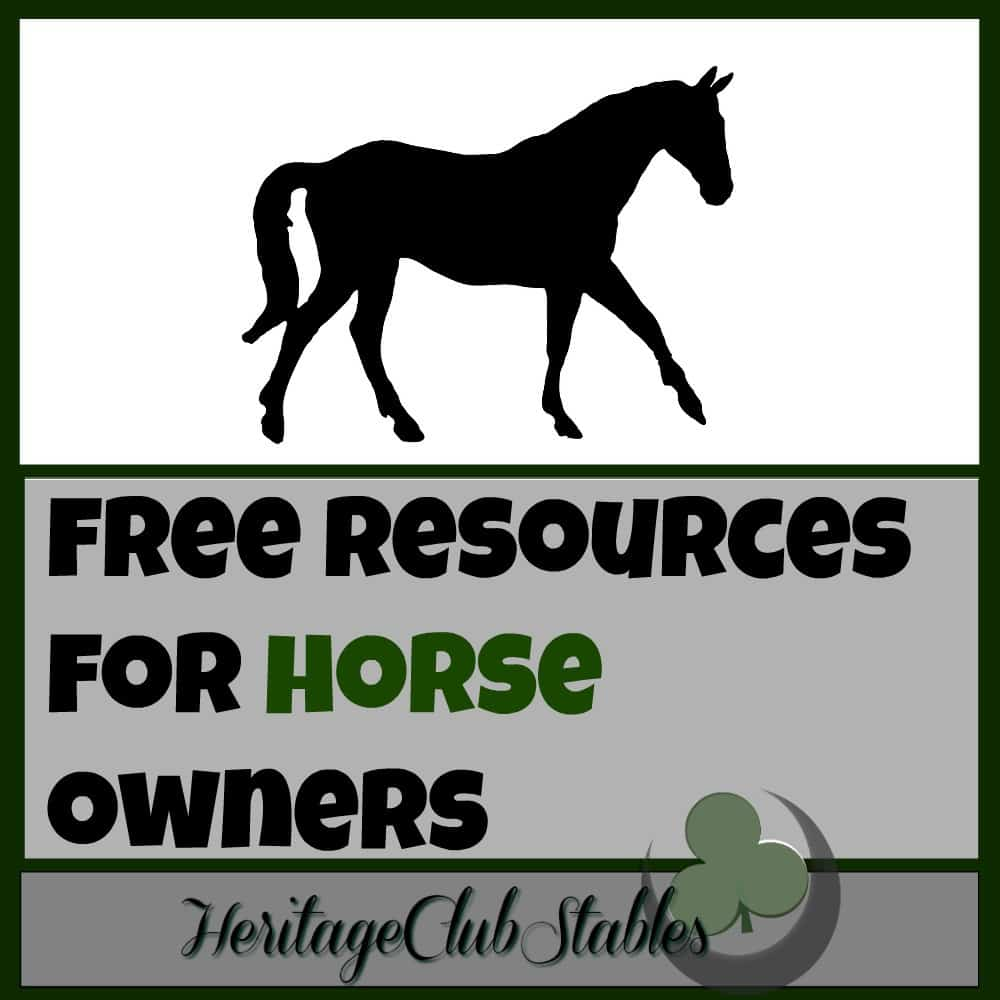 Free Resource Page for Horse Owners