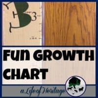Growth Chart | DIY Growth Chart | Measure a child's growth | This growth chart is a fun and easy project that will capture the growth of your children who are growing so fast! Add it to a door, wall, or board!