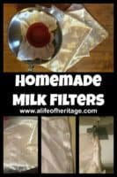 """Milking goats   Homemade milk filters   Goat Care   Homemade milk filters for the """"just in case"""". You may run out at an inconvenient moment and would also be ready if there ever were a shortage of filters"""
