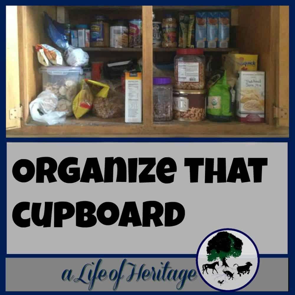 Organize that cupboard!
