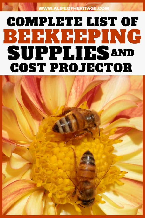 Beekeepers need to be prepared with the supplies they need to be a successful beekeeper! This list of beekeeping supplies and cost projector will help you out immensely!
