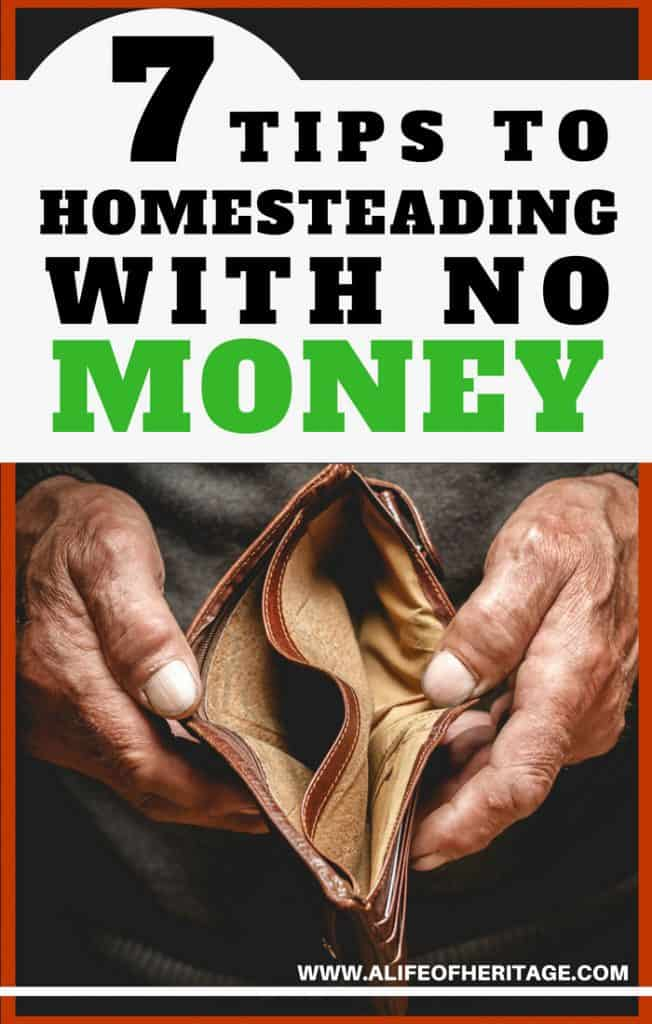 Homesteading with  no money can be done and here are 7 tips to help you do just that!