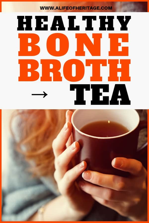 This healthy tea is made with bone broth and is spicy, delicious and sooo nutritious!